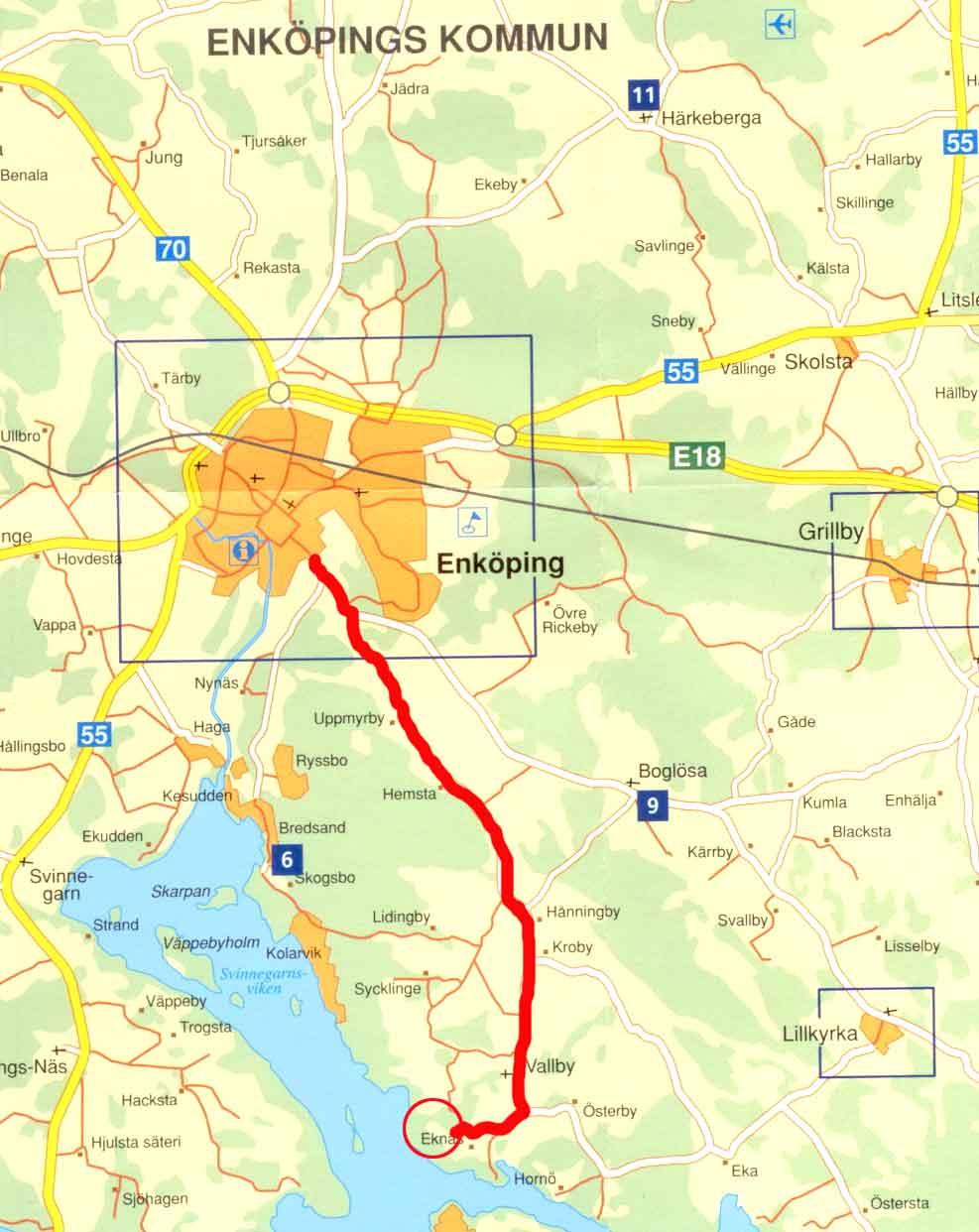 vallby karta Karta o vägbeskrivning vallby karta